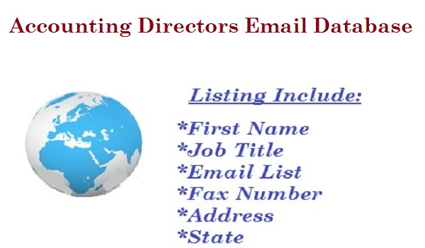 Accounting Directors Email Database