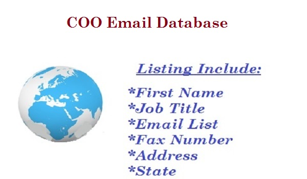 COO Email Database