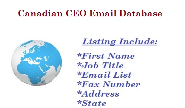 Canadian CEO Email Database