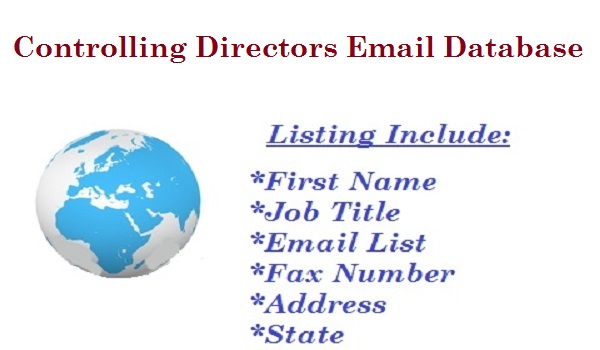 Controlling Directors Email Database
