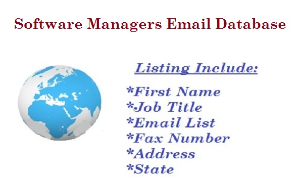 Software Managers Email Database